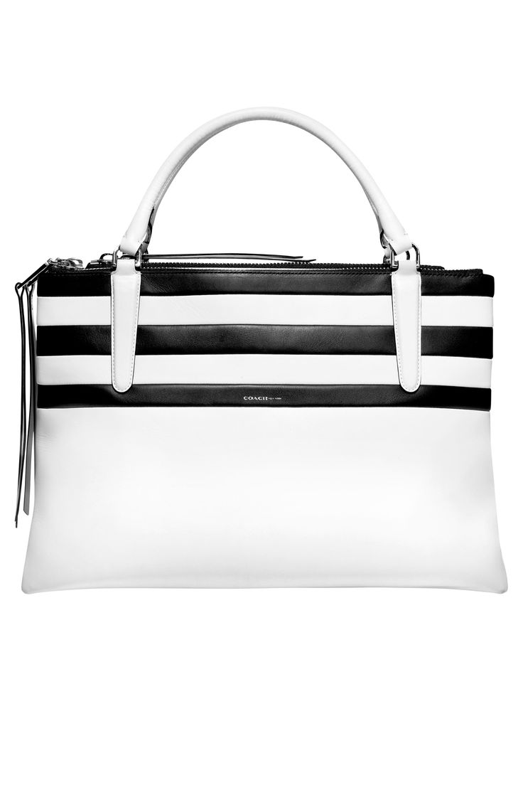 coach bag 2014 trend black and white stripe..my next purchase
