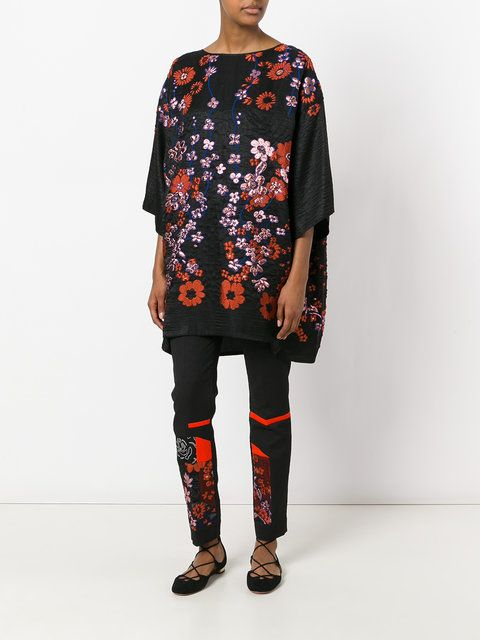 Talbot Runhof floral embroidered tunic