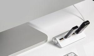 Groupon - Hub USB in alluminio con 4 porte e cavo schermato a [missing {{location}} value]. Prezzo Groupon: €7,99