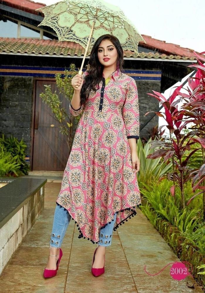 Indian Bollywood Kurta Kurti Designer Women Ethnic Dress Tunic Top Pakistani New