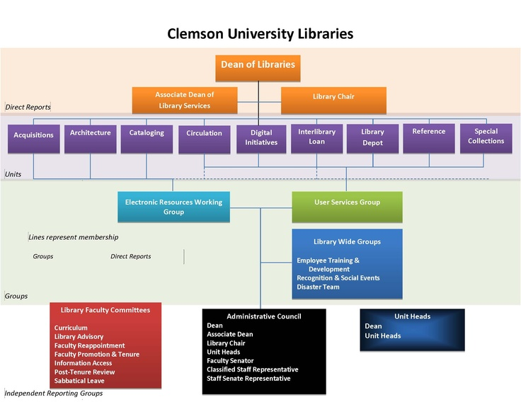 9 best org chart images on pinterest charts graphics and clemson university libraries organization chart altavistaventures Choice Image