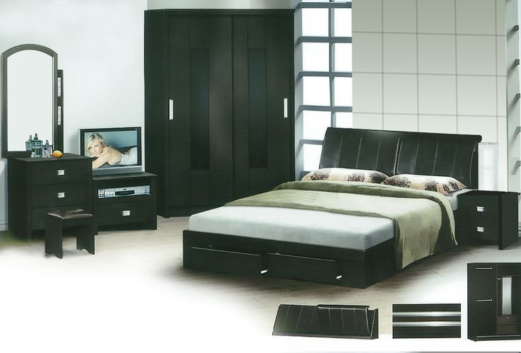 The Gregory Bedroom Set Description: Specially designed, sleek and classy, the Gregory bedroom set was design to its finest lines. Keeping it simple and neat with clean lines, it consists of a 2 sliding door wardrobe.
