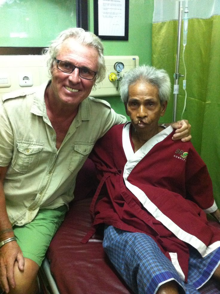 Petrus just before his operation, help never comes too late for schisis-cases.