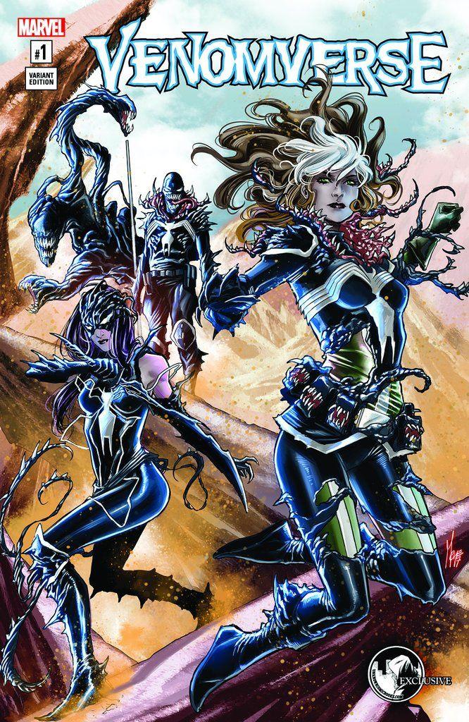 Venomverse #1 unknown comic books exclusive checchetto cvr a
