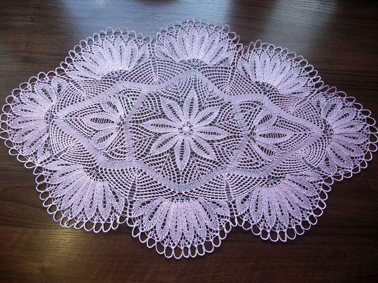 Салфетка спицами часть 1-центр (knitting cloth (part 1 center)