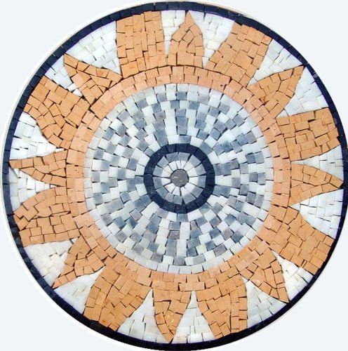 12 Sun Accent Marble Mosaic Art Tile Home Decor Insert by mozaico. $90.00. Mosaics have endless uses and infinite possibilities! They can be used indoors or outdoors, be part of your kitchen, decorate your bathroom and the bottom of your pools, cover walls and ceilings, or serve as frames for mirrors and paintings.