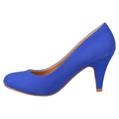 Women's Journee Collection Round Toe Pumps - Blue 10, Durable
