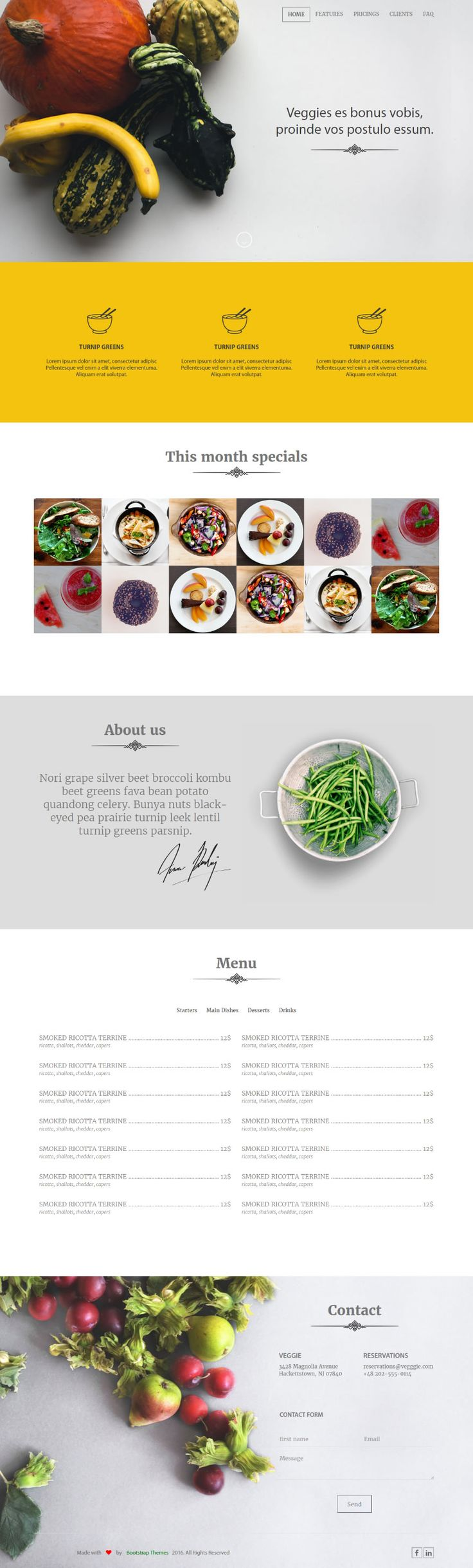 The template is ideal for bakeries, ice cream, restaurants, and any site related to food industry.  #Free #html #website #template #food #health #responsive #css #css3 #html5