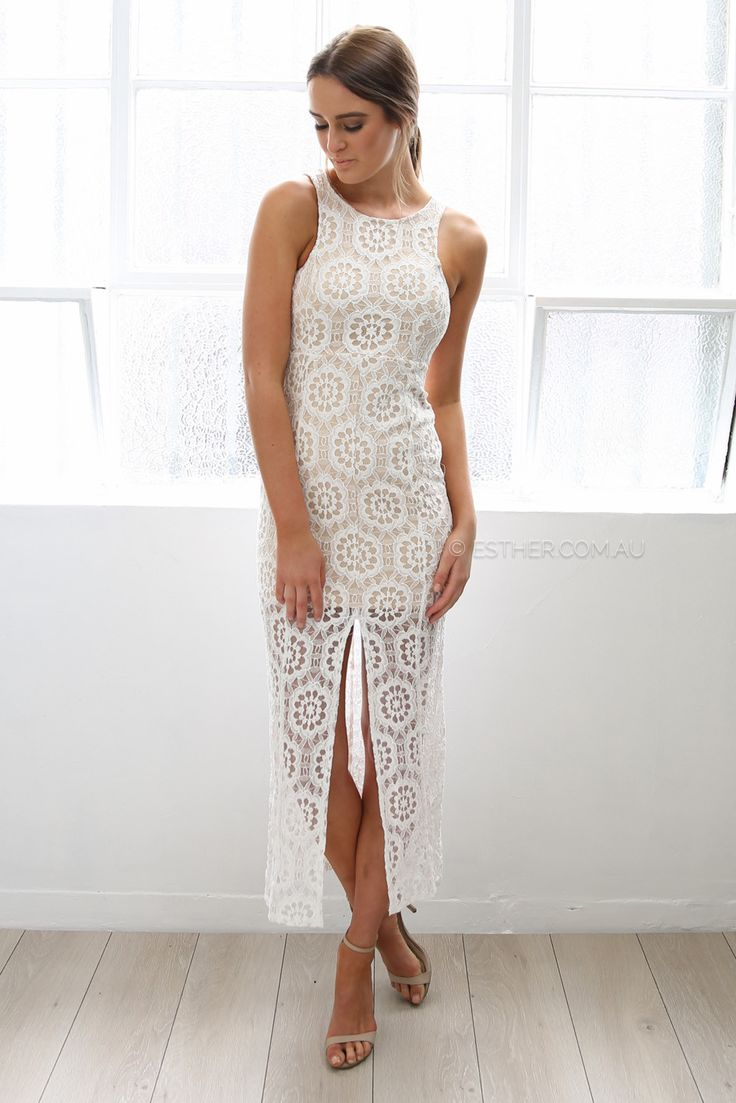 The dress and beyond - Saints And Secrets Lace And Beyond Maxi Dress Ivory