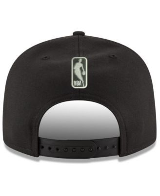 New Era Minnesota Timberwolves Black on Shine 9FIFTY Snapback Cap - Black Adjustable