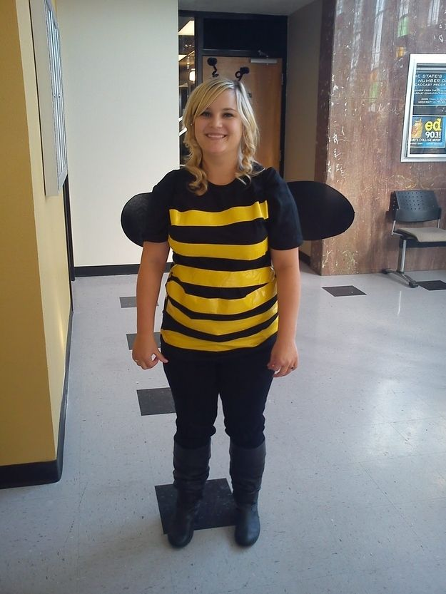 Use black pantyhose to make your wings and you're a bee: | 22 Last-Minute DIY Halloween Costumes