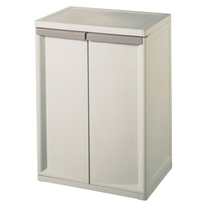 suncast plastic counter height storage cabinet 2