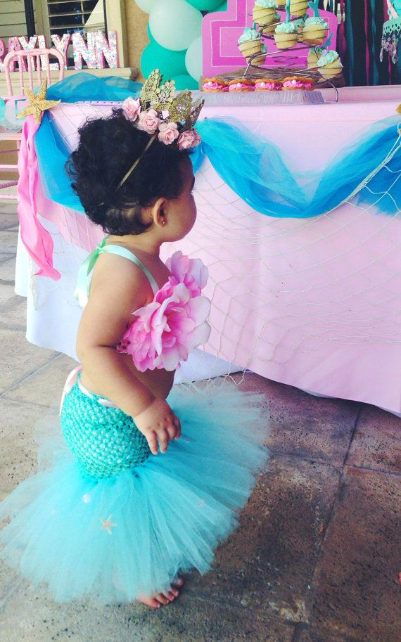 Mermaid Tutu Little Mermaid Mermaid Costume by willowlaneboutiques
