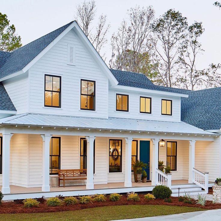 Home bunch on instagram modern farmhouse white siding
