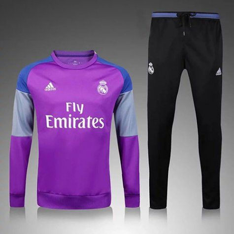 Enfant Survetement Real Madrid 2016 2017 Purple Black
