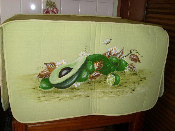 Funda para microondas aguacates pinturas pinterest - Pintura para microondas ...