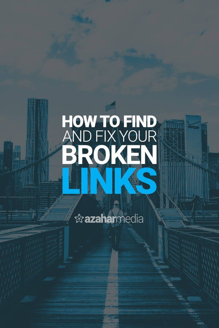 How to Find and Fix Your Broken Links via @davidhartshorne