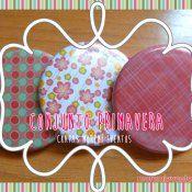 conjunto-primavera chapas de washi tape chapas de tela chapas moremi eventos chapas para bodas