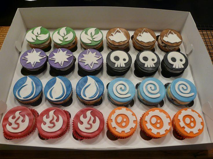 """Skylander"" Birthday Cupcakes www.thecupcakegarden.org"