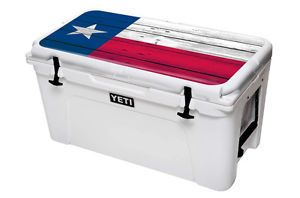 Skin Decal Wrap 24 Mil for Yeti Tundra 65 Qt Cooler Lid Sticker Texas Flag | eBay