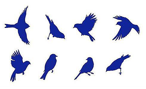 Garden Birds Stencil  See more Bird and Butterfly Stencils: http://www.cuttingedgestencils.com/wall-stencils-bird-stencils.html