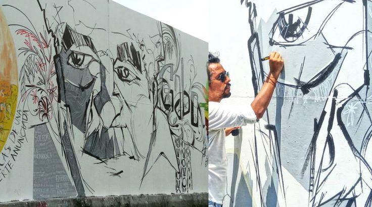 gabriel garcia marquez mural tribute at museo del caribe kikayis