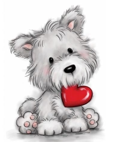 Wild Rose Studio DOG WITH HEART Clear Stamp Set CL503 Preview Image