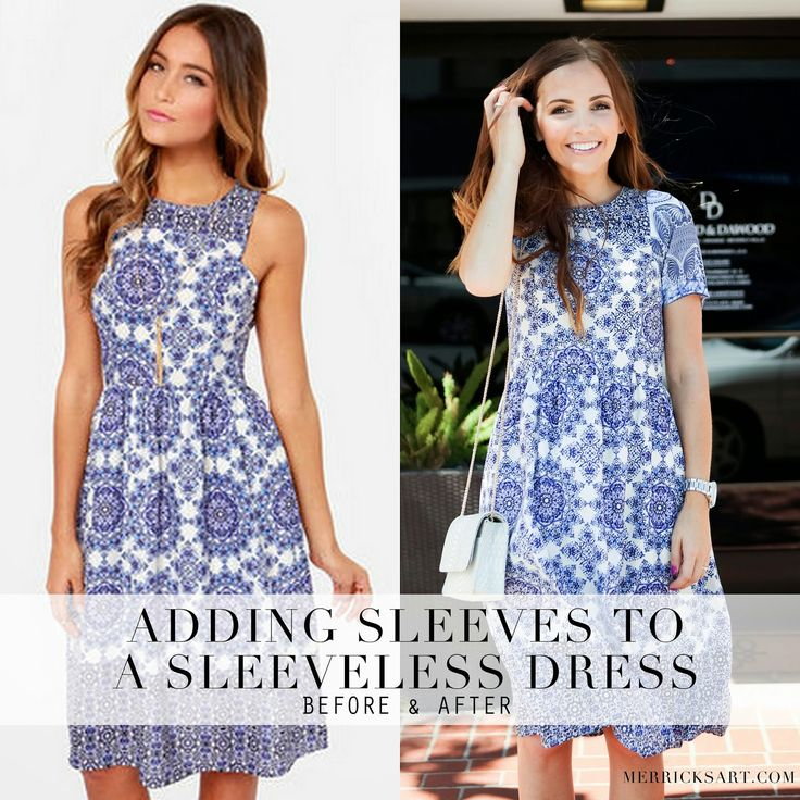 ADDING SLEEVES TO A SLEEVELESS DRESS TUTORIAL