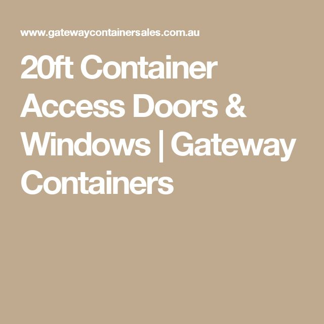20ft Container Access Doors & Windows | Gateway Containers