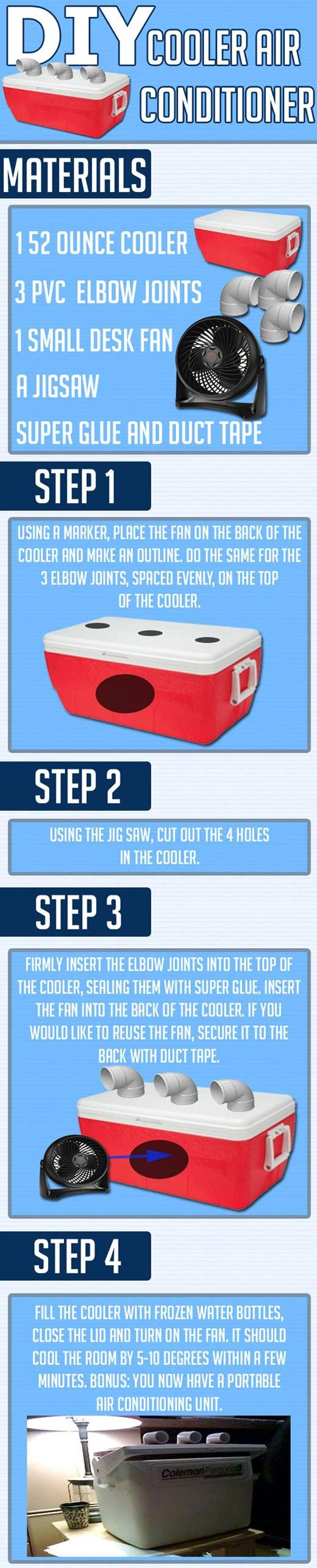 How to make your own cooler air conditioner… [ Swamp cooler ]