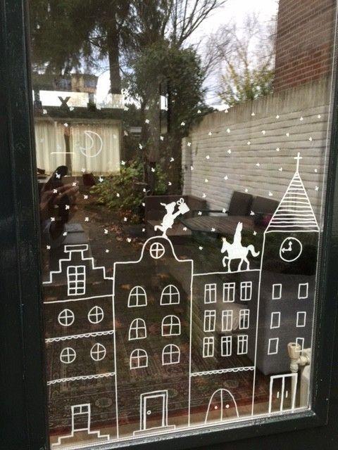 Deze DIY Sinterklaas raamversiering is zo simpel dat zelfs wij het kunnen en het…