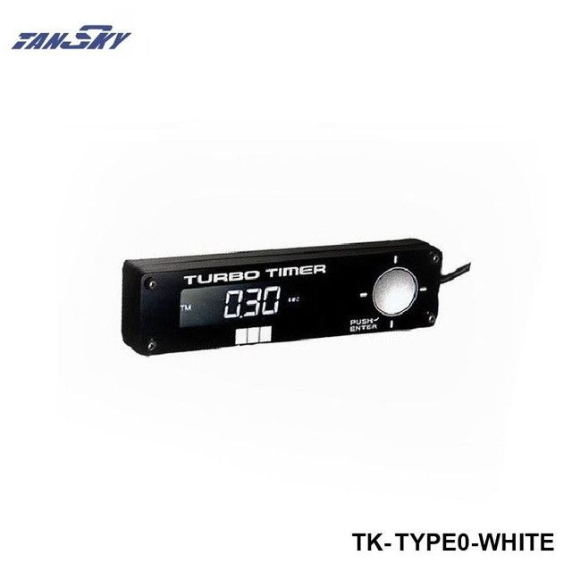 TANSKY- Box Style Black Programmable Auto Turbo Timer W/Red /Blue Digital Led Display For Ford Chevy Chevrolet 67-69 TK-TYPE0