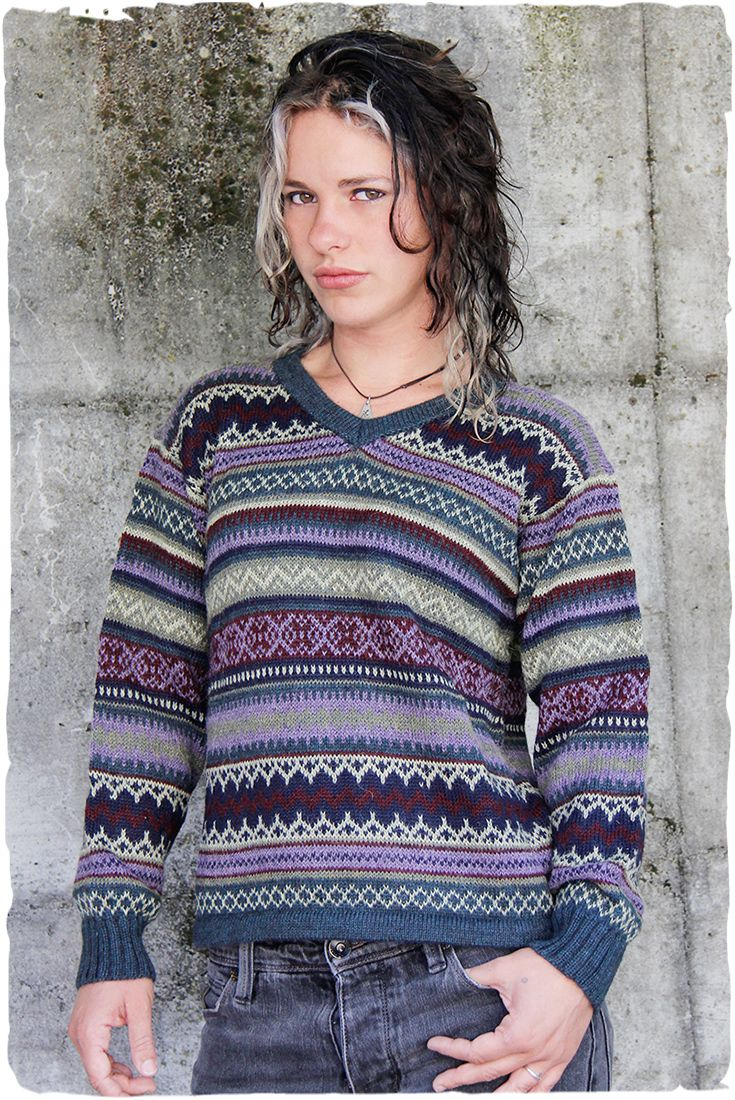 Ulisse girl ethnic jumper  V-neck plain #jumper of #alpaca #wool with geometric #ethnic #patterns - See more at: http://www.lamamita.co.uk/en-US/store/winter-clothing/1/jumpers/ulisse-girl-etnich-jumper#sthash.twh7aUgk.dpuf