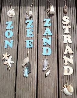 """Ingrids creaties .: Slingers van """"Zon , Zee , Zand , Strand ."""""""