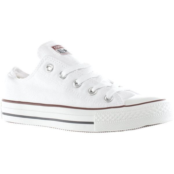 Womens White Converse All Star Oxford Trainers | schuh ($56) ❤ liked on Polyvore featuring shoes, sneakers, converse trainers, converse footwear, white shoes, oxford shoes and star shoes