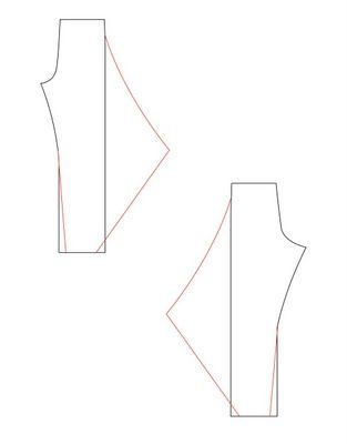 Converting a trouser pattern to an edgy design - petit main sauvage: That trouser pattern