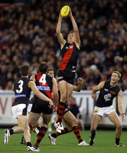 Joe Daniher on debut. The 6th Daniher to play for EFC.