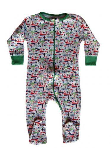 Sweet Peanut Organic Cotton Airplane Footed Pajamas | At My Baby ...