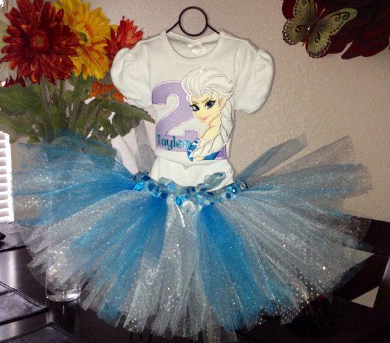 Frozen Princess Elsa tutu set by DebsDazzzlingDesigns on Etsy, $51.00