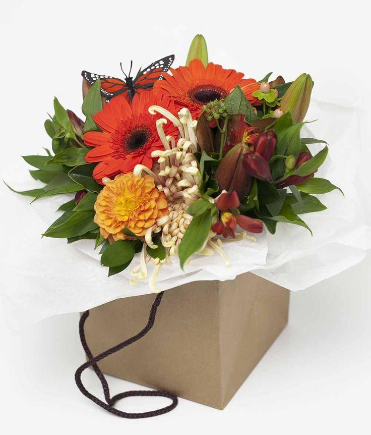 Vintage Flower Box Orange http://www.expressionsfloral.co.nz/ #florist #flowers #bouquets