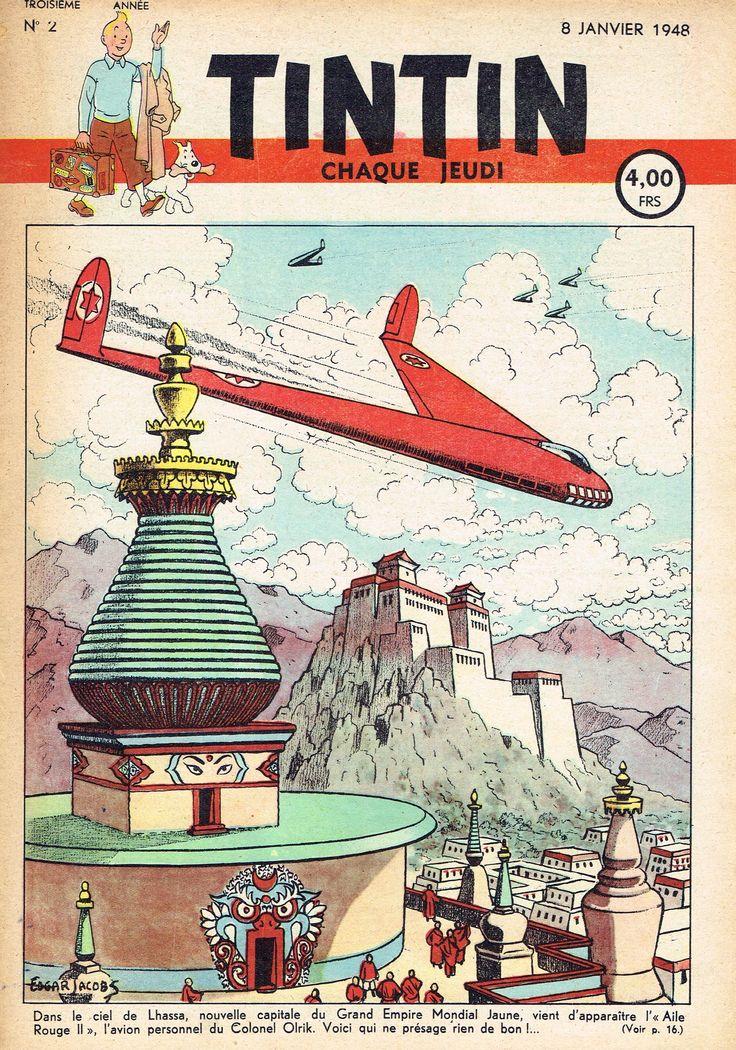 Le Journal de Tintin - Edition Belge - N° 68 - 1948-02 - Jeudi 8 Janvier 1948 - Couverture : Edgar P. Jacobs