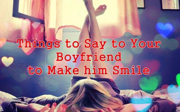 make him smile