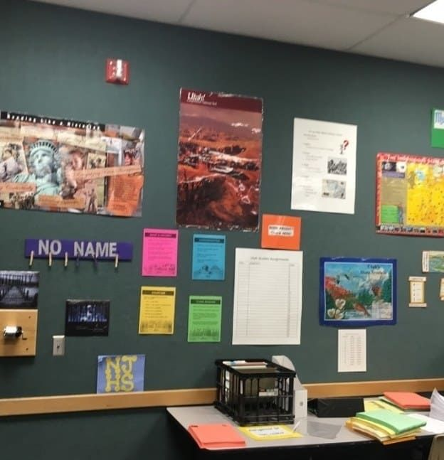 I use a file crate with numbered folders for extra copies of assignments and handouts. When students are absent or need an extra copy, they check the poster on the wall and see what number folder they need. Then they can get an extra copy. It has saved my life! I teach middle school — seventh-grade history. —beccak4932e958cA file folder hanger that organizes work that my students missed when they were absent! Students are responsible for checking it on their first day back. It is so easy to…