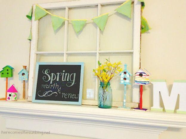 25 DIY Spring U0026 Easter Mantels