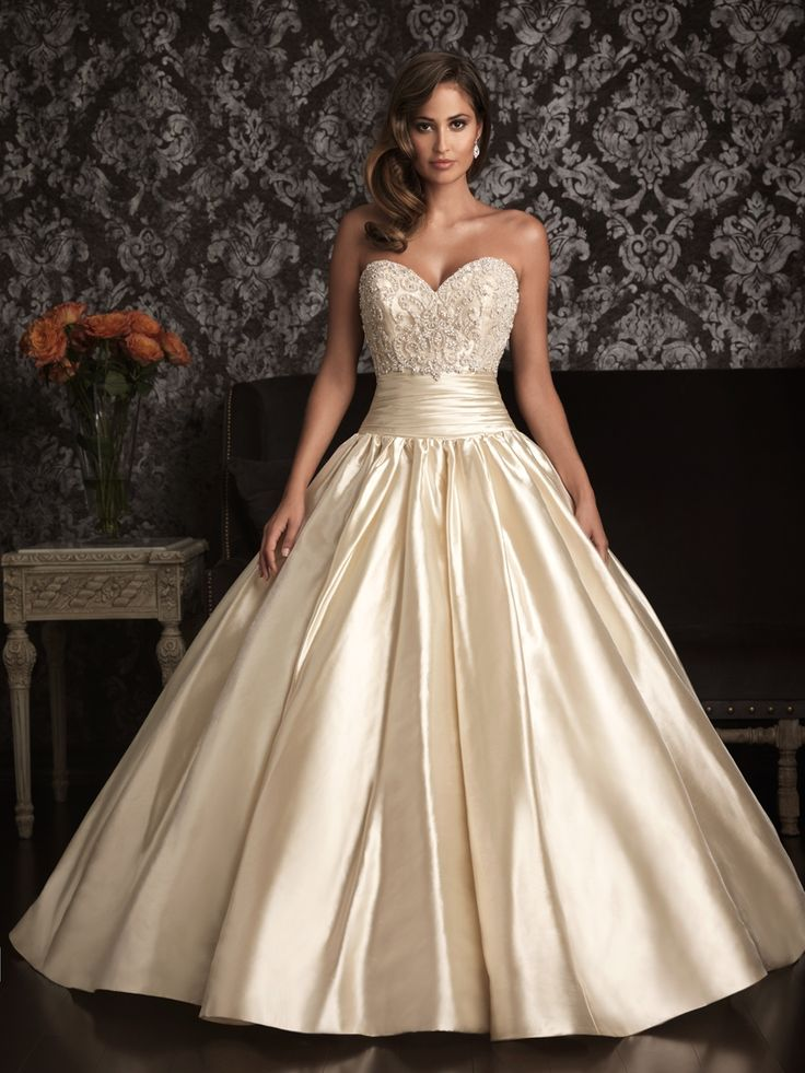 Allure bridals 9001 beaded ball gown wedding dress off for Ivory champagne wedding dress