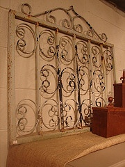 Architectural Antique Vintage Wrought Iron Garden Gate Trellis Wall Deco, $125. Call 828-414-9700.