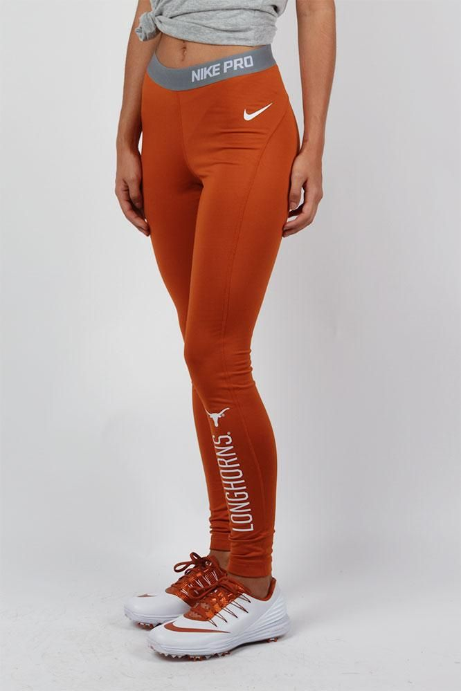 Cold weather is no excuse! Demonstrate your true Texas athleticism this fall with Nike's Longhorn Hyperwarm running tights! Hit the trails - order today!