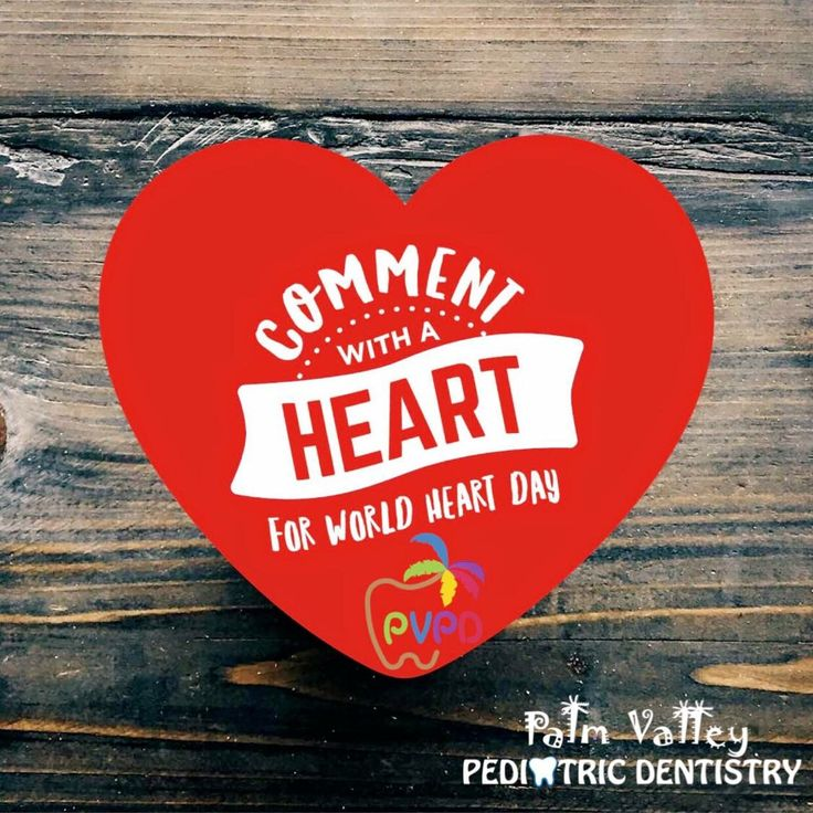SEPTEMBER 29 IS World Heart Day, and we want to celebrate with our patients! If you leave a heart in the comments, you'll have a chance to win a prize!  PVPD - Palm Valley Pediatric Dentistry  http://pvpd.com   #pvpd #kid #children #baby  #smile #dentist #pediatricdentist #goodyear #avondale #surprise #phoenix #litchfieldpark #PalmValleyPediatricDentistry #verrado #dentalcare #pch #nocavityclub #no2thdk