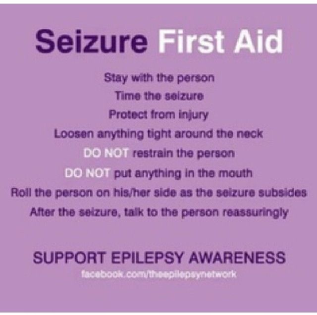 Epilepsy Awareness  so I know how to help if my friends have an episode