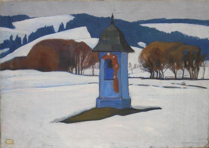 Stanisław CZAJKOWSKI ,Kapliczka na Podhalu, 1929 , olej, płótno, 50 x 70 cm